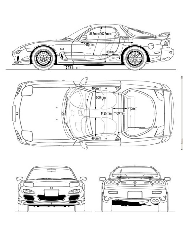 7 чертежей Mazda.