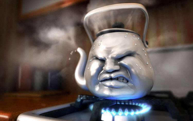 Закипела вода в чайнике 3