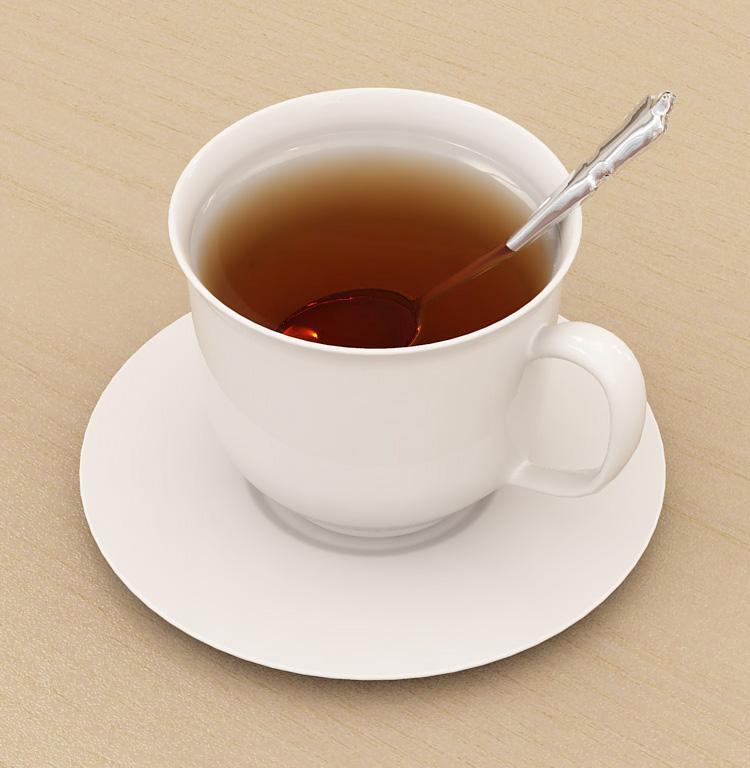 Объекты - Чашка чая - Послать картинку другу - 3DCenter.ru.