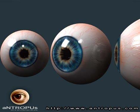 Моделирование реалистичного глаза для 3D персонажа